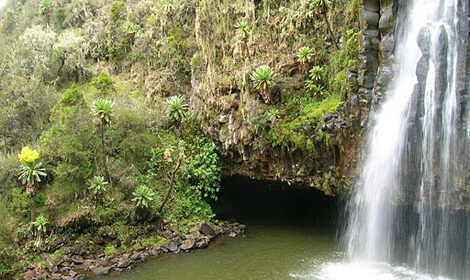 Chania Falls in Aberdare National Park