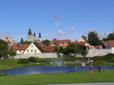 Visby on the west coast of Gotland