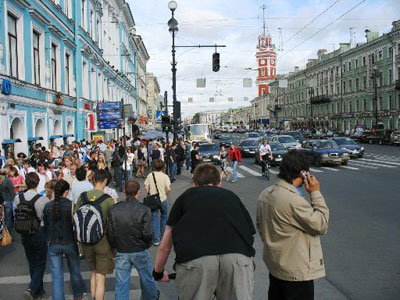 Walking on Nevsky Prospect